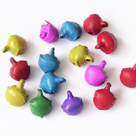 100 Assorted colour Jingle bell charms 8mm